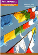 Alternatives Fall 2009 brochure with Tibetan flags