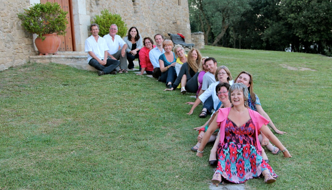 Course Participants Outside the La Torre Farmhouse